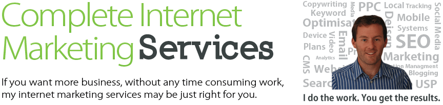 Complete Internet Marketing Services. If you want more business, without any time consuming work, my internet marketing services may be just right for you.