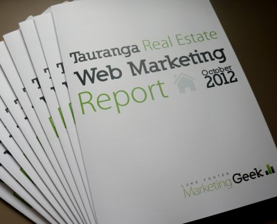 Tauranga Real Estate Web Marketing Report